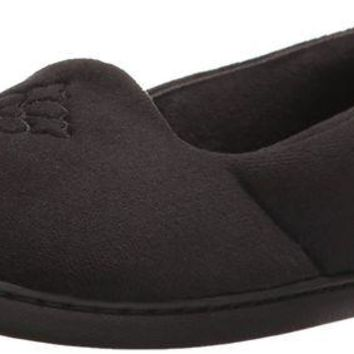 DCCK3SY Dearfoams Women's Microfiber Velour Closed Back Slipper