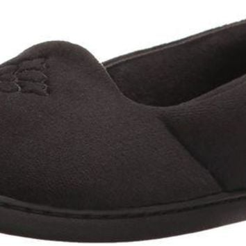 DCCKNY1 Dearfoams Women's Microfiber Velour Closed Back Slipper