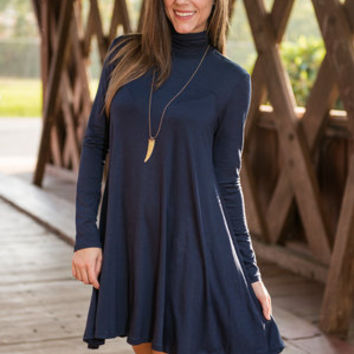 Run To Me Dress, Navy
