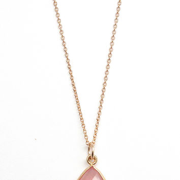 Teardrop Gemstone Necklace - Rachael Ryen Jewelry