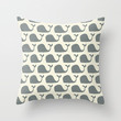 mr whale  Throw Pillow by Jill Bull | Society6