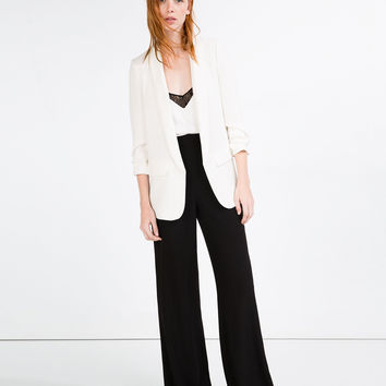 TURN - UP SLEEVE BLAZER-BLAZERS-WOMAN | ZARA United Kingdom