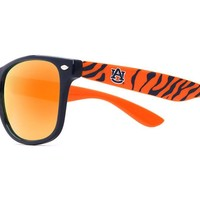 Auburn Tiger Stripe Throwback Sunglasses in Blue and Orange by Society43 - FINAL SALE