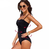 Womens Tummy Control  Slimming One Piece Swimsuit