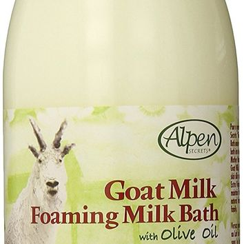 Goat Milk Foaming Milk Bath with Olive Oil, 28.7 Fluid Ounce (Pack of 2)