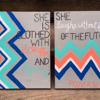 Canvas Painting - Proverbs 31:25