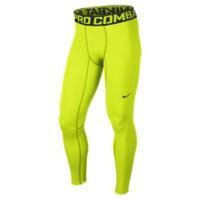 Nike Pro Hyperwarm Compression Lite Men's Tights Size Small (Yellow)