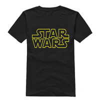 Star Wars Men's T Shirt Men Fashionable Cotton Round Collar Short Sleeve Tee Shirt Letter