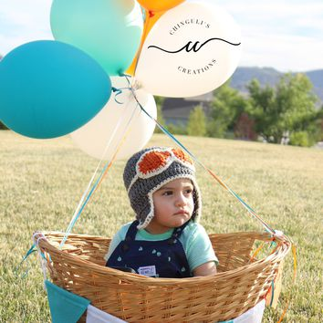Aviator Crochet Hat for Babies and Kids