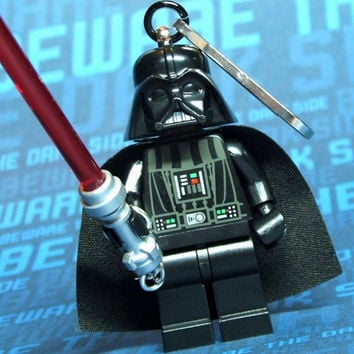 Star Wars Darth Vader Zipper Pull - made from Star Wars LEGO (r) Minifig