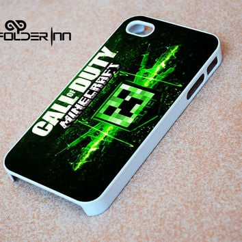 Minecraft Creeper call of duty iPhone 4s iphone 5 iphone 5s iphone 6 case, Samsung s3 samsung s4 samsung s5 note 3 note 4 case, iPod 4 5 Case