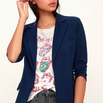 Best of Me Navy Blue Blazer