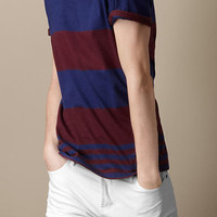 Yarn-Dye Striped T-Shirt