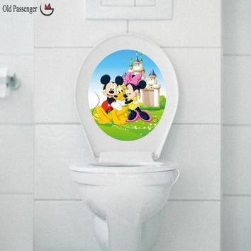 Old Passenger _ new toilet stickers Mickey Mouse Minnie Mouse vinyl wall sticker mural decals children nursery decor