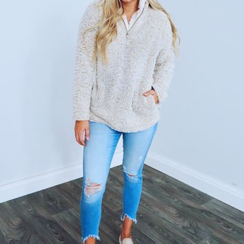 Snuggle Up Pull Over: Sand