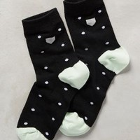 Hansel from Basel Printed Pocket Socks in Black Motif Size: One Size Socks