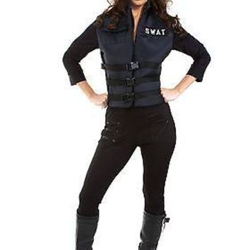 Sexy Adult SWAT Girl Costume