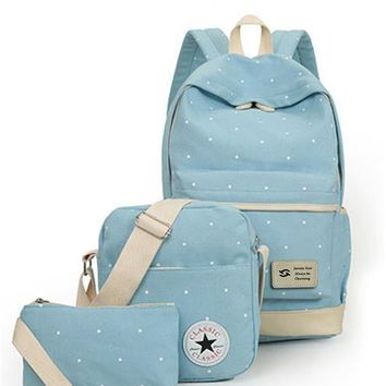 Backpack student book bag  purse laptop 3pcs set