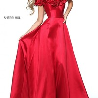 Sherri Hill Long Off-the-Shoulder Dress