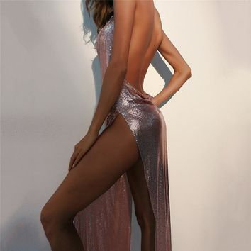 Split Winter Sexy Prom Dress One Piece Dress [471484497961]