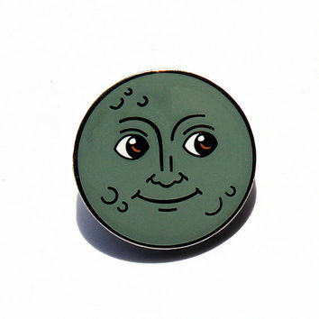 New Moon Emoji – Enamel Pin For Your Life