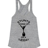Stunts Going Up...On A Tuesday-Unisex Athletic Grey T-Shirt