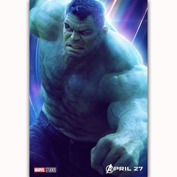 MQ3563 Avengers Infinity War The Hulk  2018 Movie Characters Film Art Poster Silk Canvas Home Decoration Wall Picture Printings