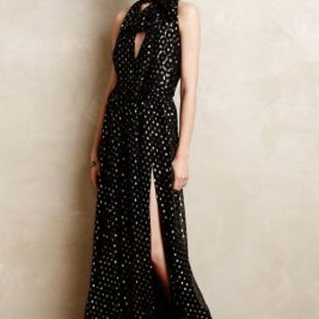 Bianca Scarf Neck Maxi Dress by JILL Jill Stuart Black Motif