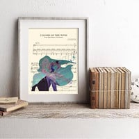 Pocahontas Colors of the Wind Sheet Music Art Print