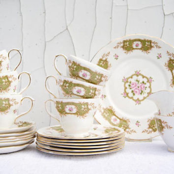 Vintage  Duchess Bone China 'Granville' 377 Fully Completed Tea set
