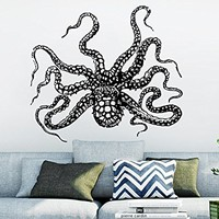 Wall Decal Octopus Tentacles Fish Deep Sea Ocean Animals Vinyl Sticker Decals Home Decor Art Bedroom Design Interior C94