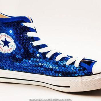 CREYON royal blue sequin converse canvas hi top 97f3a23d2717