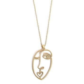 Abstract Face Necklace