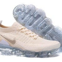 HCXX N329 Nike Air Vapormax Flyknit 2 Casual Running Shoes Light White Yellow
