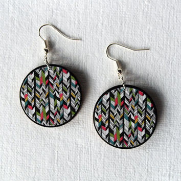 Ethnic Earrings - Tribal Earrings - Aztec Earrings - Festival Jewelry - Aztec Print