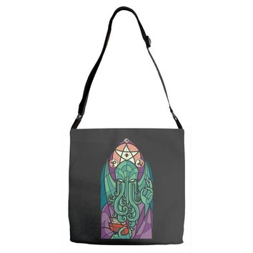 cthulhu's church Adjustable Strap Totes