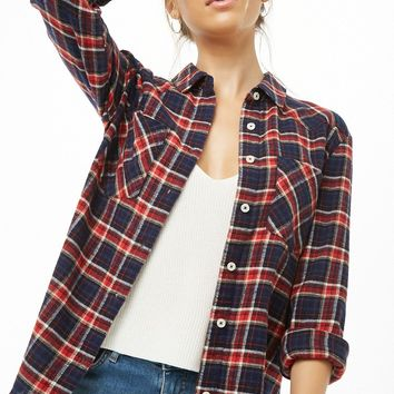 Plaid Pattern Flannel Shirt