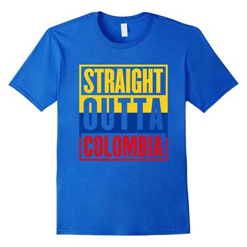 Straight Outta Colombia - Colombians Pride T-Shirt