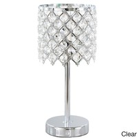 13.25-inch Crystal Glam Accent Lamp | Overstock.com Shopping - The Best Deals on Table Lamps