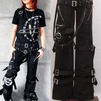 VISUAL kei PUNK Emo Japan Kera Buckle Pants Trousers S M L XL XXL FREE SHIPPING