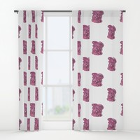 Pink Bunny Window Curtains by drawingsbylam