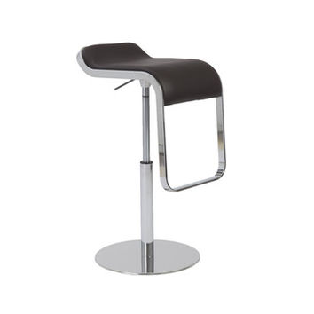 Eurostyle Freddy Adjustable Bar-Counter Stool in Brown & Chrome