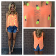 Neon Coral Pineapple Express Tank