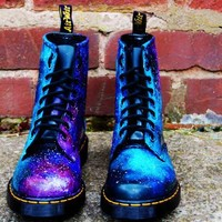 Cosmic Gothic Print Doc Dr Martens Galaxy Shoes