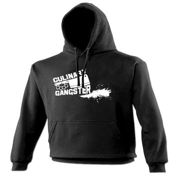 123t USA Culinary Gangster Meat Cleaver Design Funny Hoodie