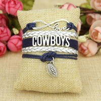 Dallas Cowboys Infinity Love Bracelet
