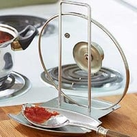 Spoon Rest Stainless Steel Lid Holder Utensil Caddy Counter-top Kitchen Cook NEW