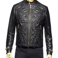 Versace - Leather Bomber Jacket