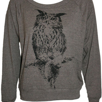 OWL Illustration Art Print Slouchy Ladies by UnknownArtistApparel