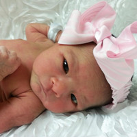 Pink and White Stripe Bow Headband Toddler Newborn Baby Girl Photo Prop